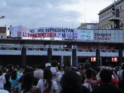 15-M en Zaragoza